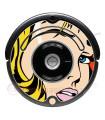 POP-ART Garota Warhol. Vinil decorativo para o Roomba - Série 500 600
