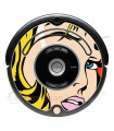 POP-ART Warhol Girl. Vinyl Roomba iRobot - Serie 500 600