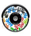 POP-ART flor de Matisse. Vinil para iRobot Roomba - 500 600 série
