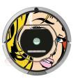 POP-ART  Chica Warhol. Vinilo para Roomba iRobot - Serie 700