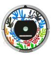 POP-ART Matisse flowers. Vinyl for Roomba iRobot - Serie 700